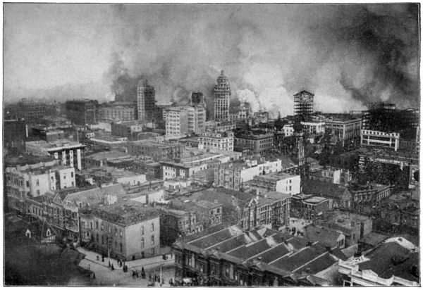 San Francisco on Fire After the Earthquake