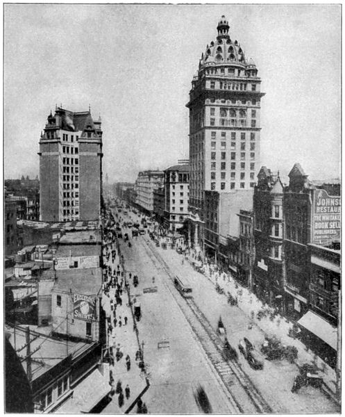 San Francisco Earthquake - Looking Toward the Ferry from Vallejo Street