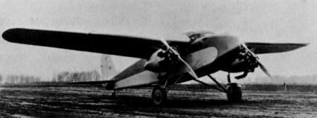 Stewart M-2 Monoplane, 1930, with 2 Packard 225-hp DR-980 diesel engines.