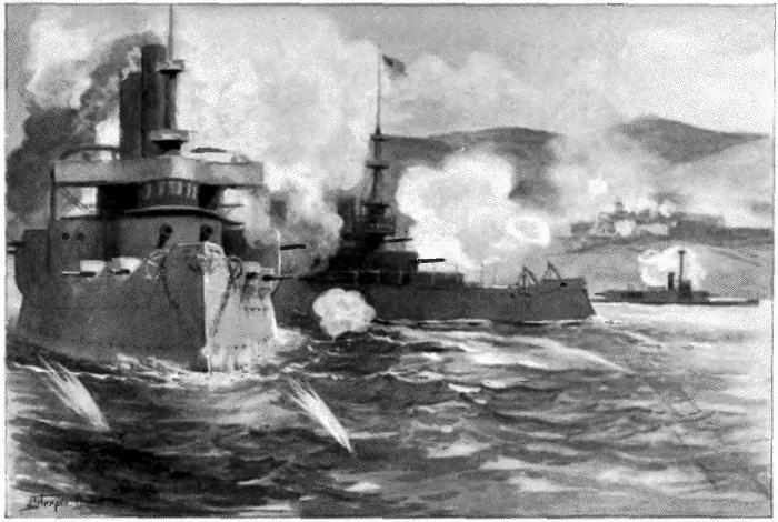 Bombardment of San Juan, Porto Rico by the American fleet