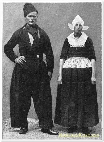 Sunday Best Clothes: A Man and Woman from Voldam in their Sunday Clothes