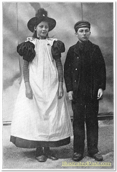 Two Children in Traditional Dress