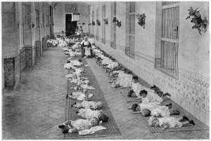 Children are laid out like cord wood in a Havana hospital. Did they use any sort of ID bracelets to keep them straight?