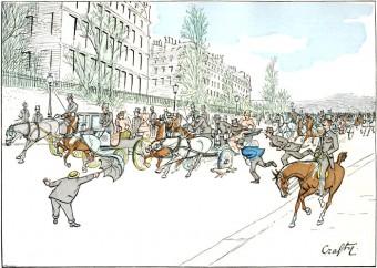 Runaway Carriage on the Avenue du Bois de Boulogne