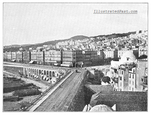 View of the city and the quays of Algiers.