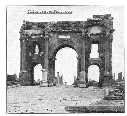 Triumphal Arch of Trajan in ruins. Sic transit gloria.