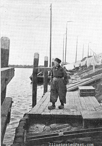 Fisherman Wearing Baggy Pants. Holland, 1906