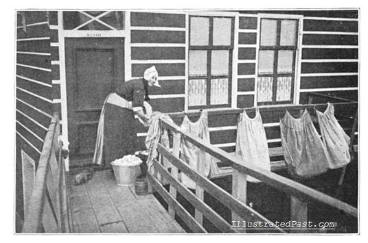 Wash Day in Volendam, Holland (1906)