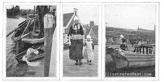 Women Working and Caring for Children - Holland, 1906