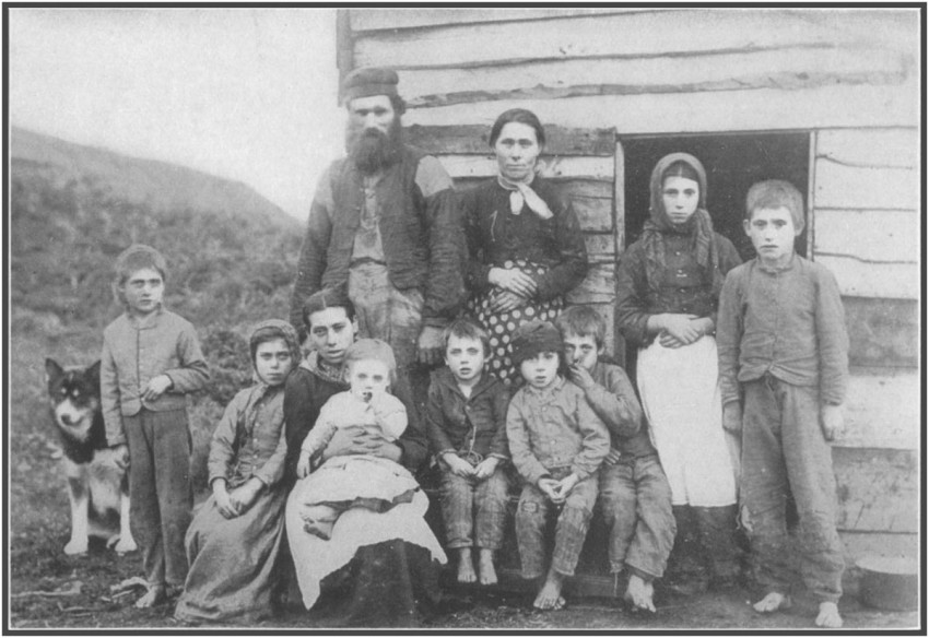 A Frontier Family in Grenfell Labrador, Canada. Early 1900s.