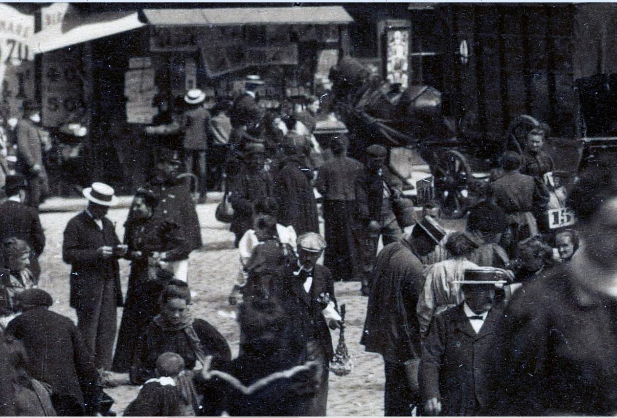 Street Level of a Paris Street 1898