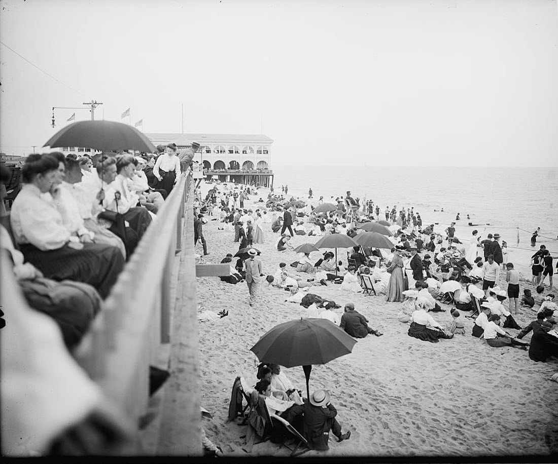 People Watching on the Beach