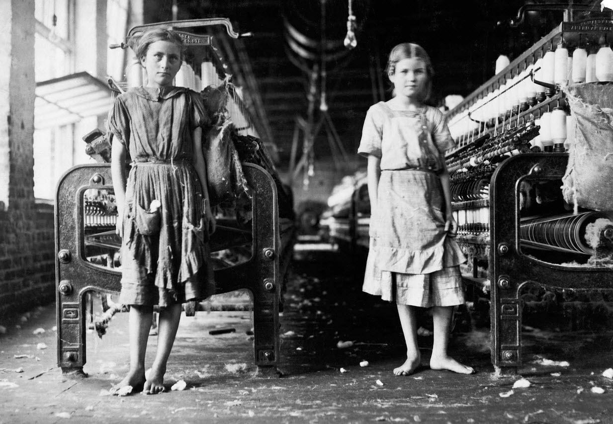 working in a cotton mill