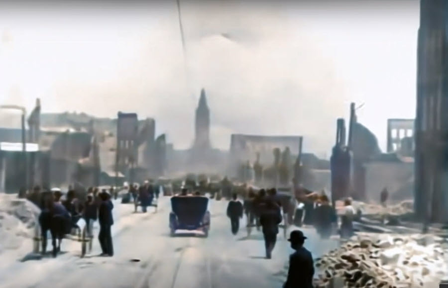 Aftermath of the San Francisco Earthquake - Footage by the Miles Brothers, 1906