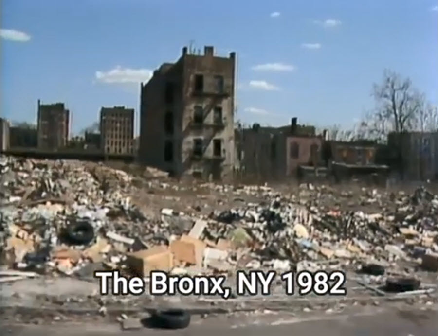 Urban Decay, the Bronx New York in 1982