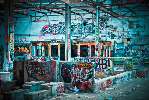 graffiti and urban decay