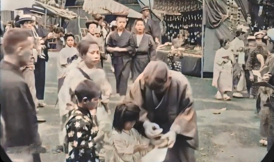 Japan street vendor stalls