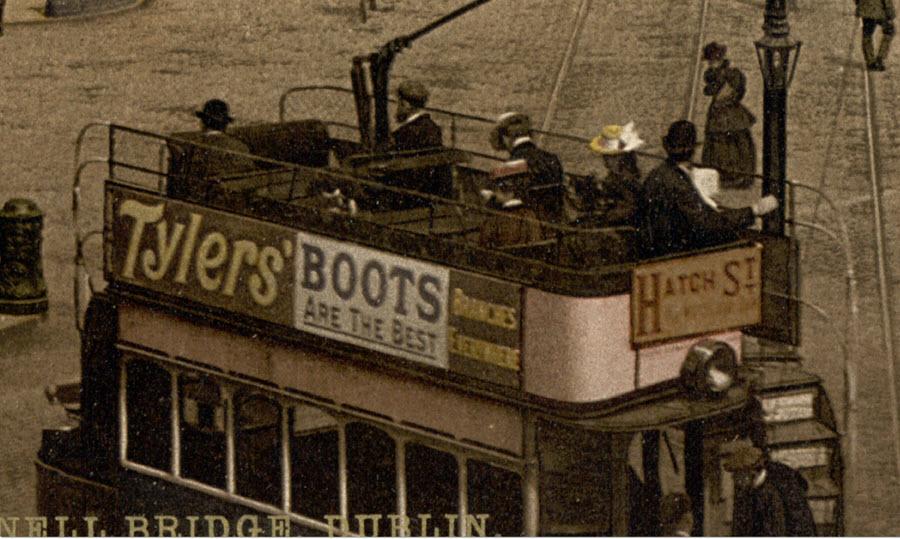Double decker trolley in Dublin Ireland