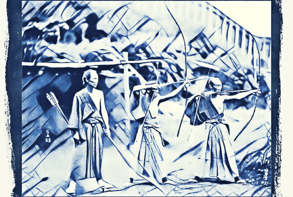 Samurai archers Old Japan